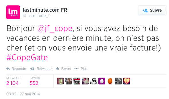 13 LastMinute Cope Le Top Topical ou le real time advertising