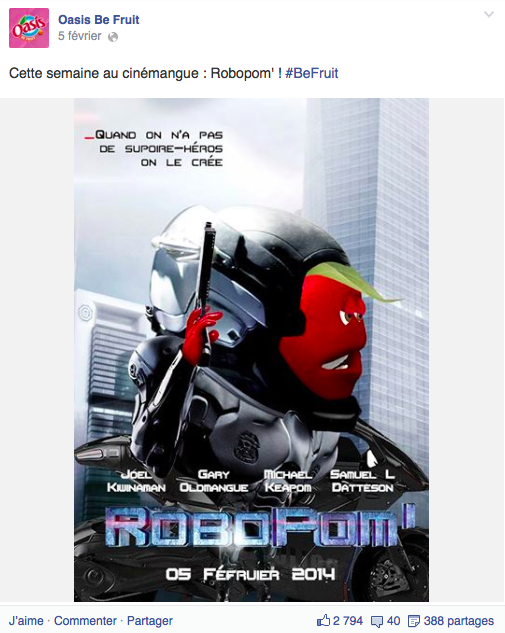 16 Oasis RoboPom Le Top Topical ou le real time advertising