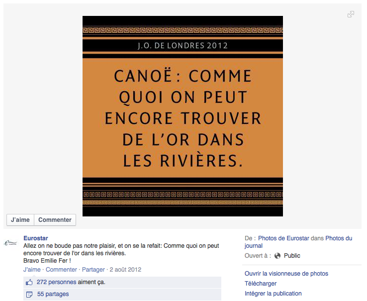 4 Eurostar Canoe Le Top Topical ou le real time advertising