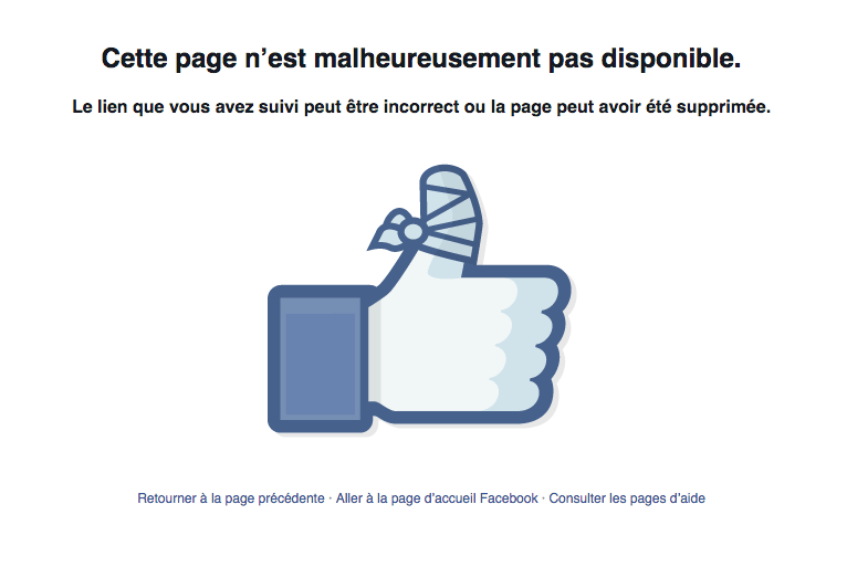 404 Facebook Le design émotionnel